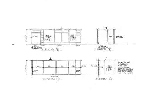 Elevation of kitchen