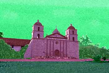 Mission Santa Barbara, Digitally Stylized