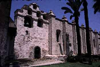Mission San Gabriel, Digitally stylized